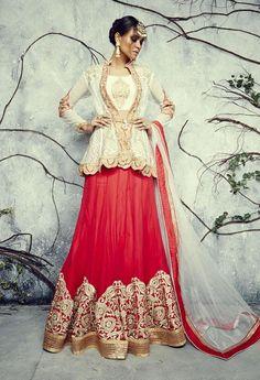 Designer Wedding Lehenga Choli made with Georgette Fabric..#Lehenga