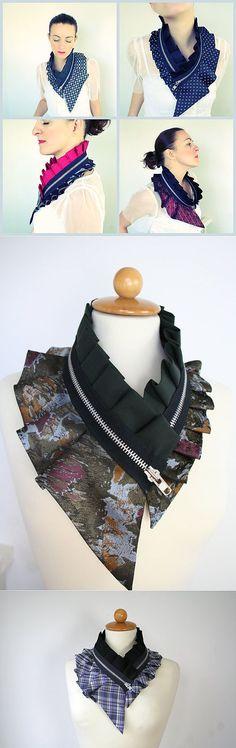 Воротник из галстука (трафик) / Мужские галстуки / Модный сайт о стильной переделке одежды и интерьера