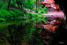 SONGE ÉPHÉMÈRE by Malteste    Oak creek canyon, near Sedona, Arizona. Oak Creek Canyon, Old Montreal, Sedona Arizona, Garden Bridge, Photo Art, Innovation, Outdoor Structures, Live, Gallery