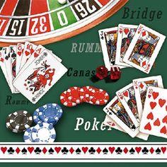 ペーパーナプキン(33)AMB:(5枚)カジノ-AM165