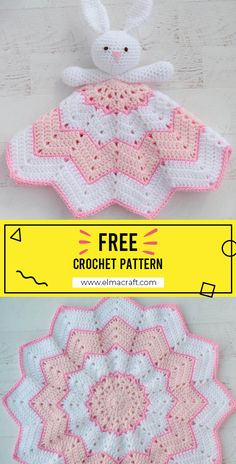 Crochet A bunny to love Baby Blanket FREE Pattern - Easy Crochet Baby Blanket Pattern for Beginners Source by shareapattern Crochet Lovey Free Pattern, Crochet Bunny, Crochet Blanket Patterns, Baby Blanket Crochet, Baby Patterns, Free Crochet, Knitting Patterns, Easy Crochet, Crochet Security Blanket