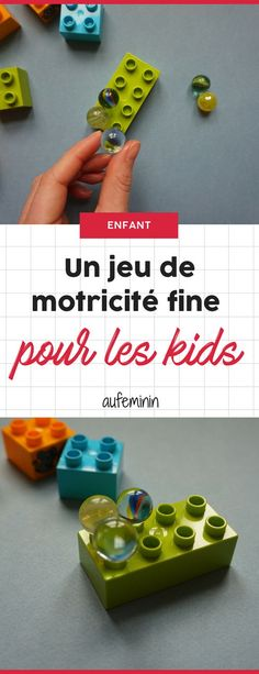 Activité pour les enfants : Allier jeu et motricité fine. Une activité de maternelle d'inspiration Montessori. #motricité #motricitéfine #maternelle #3ans #4ans #5ans #lego #duplo #billes #activité #Montessori #Ludikid #aufeminin