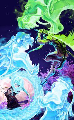 Overwatch: Brawling Dragons by rou-tan on @DeviantArt