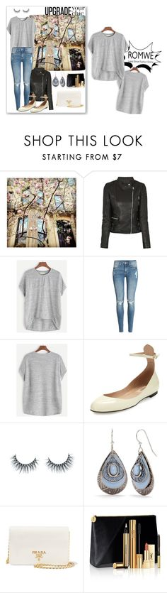 """""""ROMWE-contest"""" by tattooedmum ❤ liked on Polyvore featuring Brika, H&M, Valentino, Unicorn Lashes, Silver Forest, Prada and Yves Saint Laurent"""