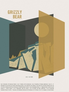 2012 Tour Poster by Grizzly Bear - Poster flora fauna world Gig Poster, Screen Print Poster, Tour Posters, Band Posters, Indie, Warner Music Group, Graphic Art, Graphic Design, House Of Cards