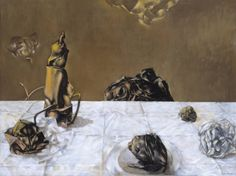 Dorothea Tanning (1910‑2012)  Some Roses and Their Phantoms,  1952   Oil paint on canvas  763 x 1015 x 23 mm   Collection Tate