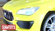 SIAMTOYS - รถเด็ก รุ่น 3734 ทรง มาเซราติ (สีเหลือง) - Line id : @siamtoy...