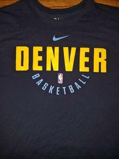 Denver Nuggets NBA Basketball t-shirt Blue Adult XL Nike Dri-Fit Colorado  Rocky ebb6adb49