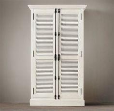 Restoration Hardware Shutter Door Cabinet with Cremone Bolts