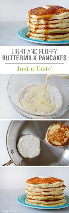 {MADE} Light and Fluffy Buttermilk Pancakes -used oil instead of butter.  Used 1/2 cup white whole wheat flour.  Like my usual pancakes better.