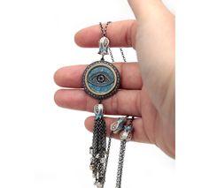 Designer Tassel Evil Eye Necklace - Unique Evil Eye Jewelry Designs.