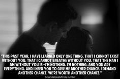 "scandalousminds:    The Best Fitzgerald Grant Quotes...  ""This past year, I have learned only one thing. That I cannot exist without you."""