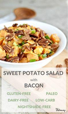 Sweet Potato Salad with Bacon recipe   gluten-free   dairy-free   nightshade-free   refined sugar-free   paleo   low-carb