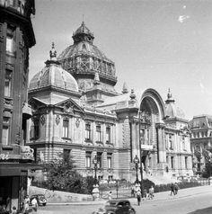 Calea Victoriei si Palatul CEC in 1957.