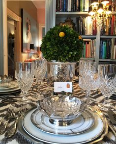 Classic Silver and pewter meet modern grey chevron.  Decorated by me . . . . . #decorating #interiors #interior #design #blueandwhite #glamour #flowers #chic #savannah #chinoiserie #modern #finechina #french #toile #antique #tablesettings #decor #chinesechippendale #hollywoodregency #tablescape #luxdecor #luxedecoration  #Duchessofstate #louisxiii #limoges #gilded #oldandnew #dinnerparty #interiorinspiration #louisxiv