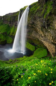 Seljalandsfoss is one of the most famous waterfalls of Iceland. This waterfall of the river Seljalandsá drops 60 metres ft) over the cliffs of the former coastline. It is possible to go behind the waterfall. Famous Waterfalls, Beautiful Waterfalls, Beautiful World, Beautiful Places, Iceland Waterfalls, We Are The World, Fine Art Photo, Iceland Travel, Amazing Nature