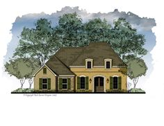 Beautiful house plan with 3 Bedrooms, 2 Bath  Formal Entry Foyer and Dining Room  Raised Ceiling in Master   Spacious Great Room with Fireplace  Open Kitchen with Eating Bar   Large Walk-in Closet in Master  Covered Front Entry   Covered Rear Porch   Ample Storage Room  Sophisticated French Tuscany Exterior   NARROW LOT DESIGN    Total Living Area: 1788 sq. ft.   Garage: 536 sq. ft.   Porches: 199 sq. ft.   Total Area: 2523 sq. ft