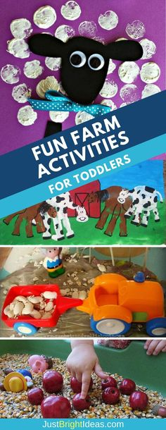 Fun farm activities for toddlers to help your tot learn all about farm animals, including Small World, crafts and book suggestions Farm Animal Crafts, Animal Art Projects, Toddler Art Projects, Toddler Crafts, Farm Animals, Daycare Crafts, Eyfs Activities, Animal Activities, Infant Activities