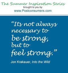 Summer Inspiration Quote: Feel Strong