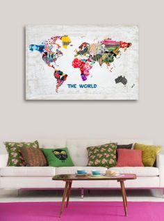 "Love this print! The World - 36"" x 24"" @Kerrie Schwandt"