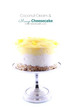 Mango and coconut are a match made in heaven. I adore playing with this flavor combination. This Coconut Cream & Mango Cheesecake is fresh and super simple to make.