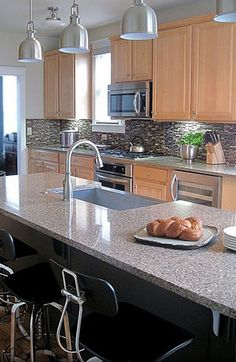8 Kitchen Counter Options That Will Make You Forget Granite - zillow blog  Concrete, Stainless, Quartz, Glass, Marble, Wood, Soapstone, Solid surfaces (We like our Paperstone for lots of reasons, but will probably go with something else in our next home.)