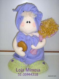 Ceci EuQfiz: Boneca enrolada na toalha