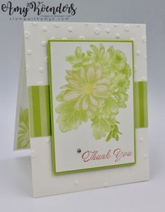 I used the Stampin' Up! Heartfelt Blooms Sale-a-bration exclusive stamp set to create a thank you card to share with you today. My card design was inspired by Sketch Saturday #497. I started …
