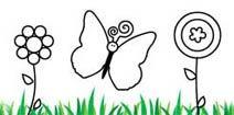Desenhos infantis gratis para colorir e pintar online: Pintar borboletas!! (Jogos de Colorir) Mães online.