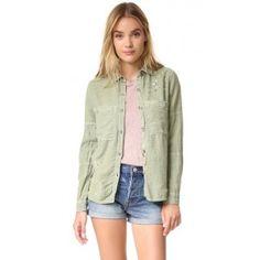2016 Summer Sundry Paint Splatter Jacket in Olive