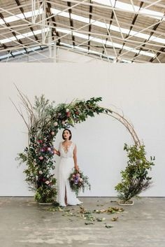 Floral circle arch wedding backdrop - would be lovely at the barn as a ceremony backdrop 💕 boho wedding dress/wedding quizes/wedding/rustic wedding/outdoor wedding dress/ Wedding Bows, Wedding Bride, Wedding Day, Arch Wedding, Trendy Wedding, Backdrop Wedding, Wedding Church, Decor Wedding, Wedding Centerpieces