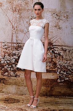 Short wedding dress is really in this season! Monique Lhuillier, Fall 2014