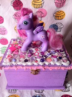 My Little Pony Jewelry Box Impressive Musical Wishes Jewelry Box With Skywishes  My Little Pony Design Ideas