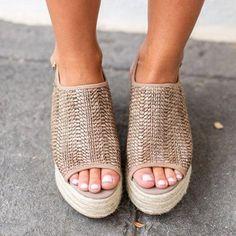 726c31bd31d6 Platform Peep Toe Weaving Sandals – shecici