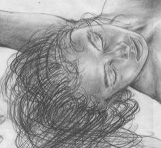 Girl9 detail  ca 1992 #pencil #drawing #drawings #portraits #people