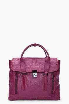 3.1 Phillip Lim Burgandy Pashi Satchel ... Increíble en este color!