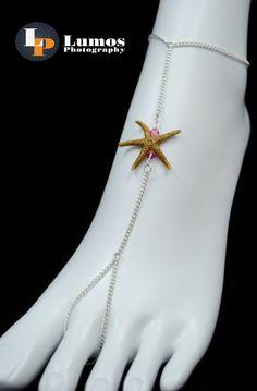 Real Sanibel Starfish and Swarovski Crystal by GutsyGirlJewelry