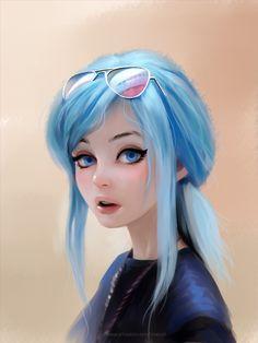 movie concept art # / digital art nose ` ui university wallpaper ` sci fi artwork ` happy birthday wishes for a friend ` movie concept art Fille Anime Cool, Cool Anime Girl, Kawaii Anime Girl, Anime Art Girl, Anime Girls, Arte Digital Fantasy, Digital Art Girl, Dark Fantasy, Fantasy Art