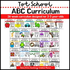 A 26-week alphabet curriculum designed for 2-3 year olds. Each week of curriculum addresses a new letter and comes with a weekly calendar full of book suggestions, activity ideas + activity printables, and the early learning standards each day addresses. Full bundle containing all 26 letters available for purchase on Teachers Pay Teacher. You can purchase individual letter weeks.