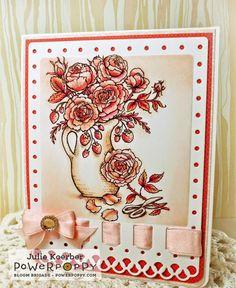 Arranging Roses Digital Stamp Set