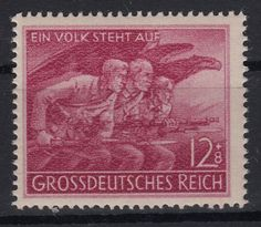 Deutsches Reich 1945 MiNr 908. Stamp commemorates the heroic defense of East Prussia in late 1944-45.