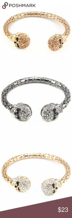 Special Price ‼️Skull Bracelet Skull Head Cuff Bracelet. It's about 5 inch.❤️alba #fashion #saleNO OFFERS Jewelry Bracelets