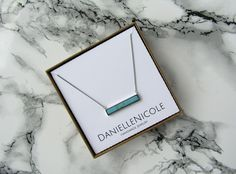This Turquoise Bar Pendant Necklace is the perfect accessory for any outfit! This necklace can be worn alone or layered with other necklaces for a boho chic look! *Custom necklace lengths available upon request. Please leave a note at checkout with your preferred length* **Please note that each