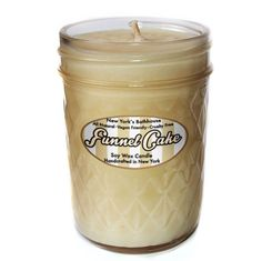 100% soy wax candle handcrafted in New York & poured to perfection. Funnel Cake, this yummy scent is a combination of fried dough sprinkled with sugar, cinnamon and the delicious taste of nostalgia. 8