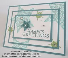 Triple Stamping : Heather's Blog using Bright and Beautiful stamp set and starts framelits from Stampin' Up!