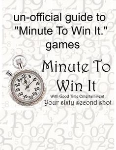 "un-official guide to ""Minute To Win It."" games by Bridal Association of America - issuu"