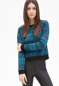Geo Pattern Pullover | FOREVER 21 - 2000138221