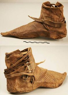 Castle Life -  Shoes from 14th century. #HistoricShoes #Leather