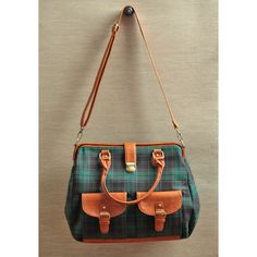 English Countryside Satchel Bag ($55) found on Polyvore