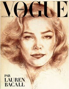 Hommage à Lauren Bacall hollywood Vogue Paris décembre 1978